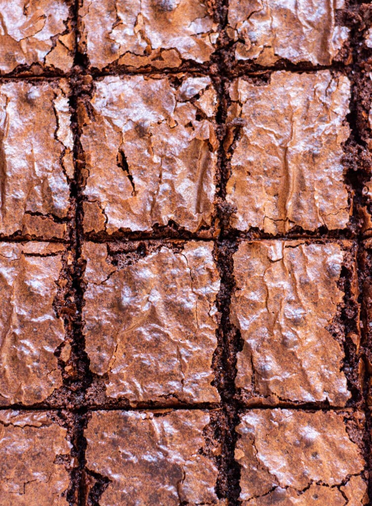 bird's eye view of brownies