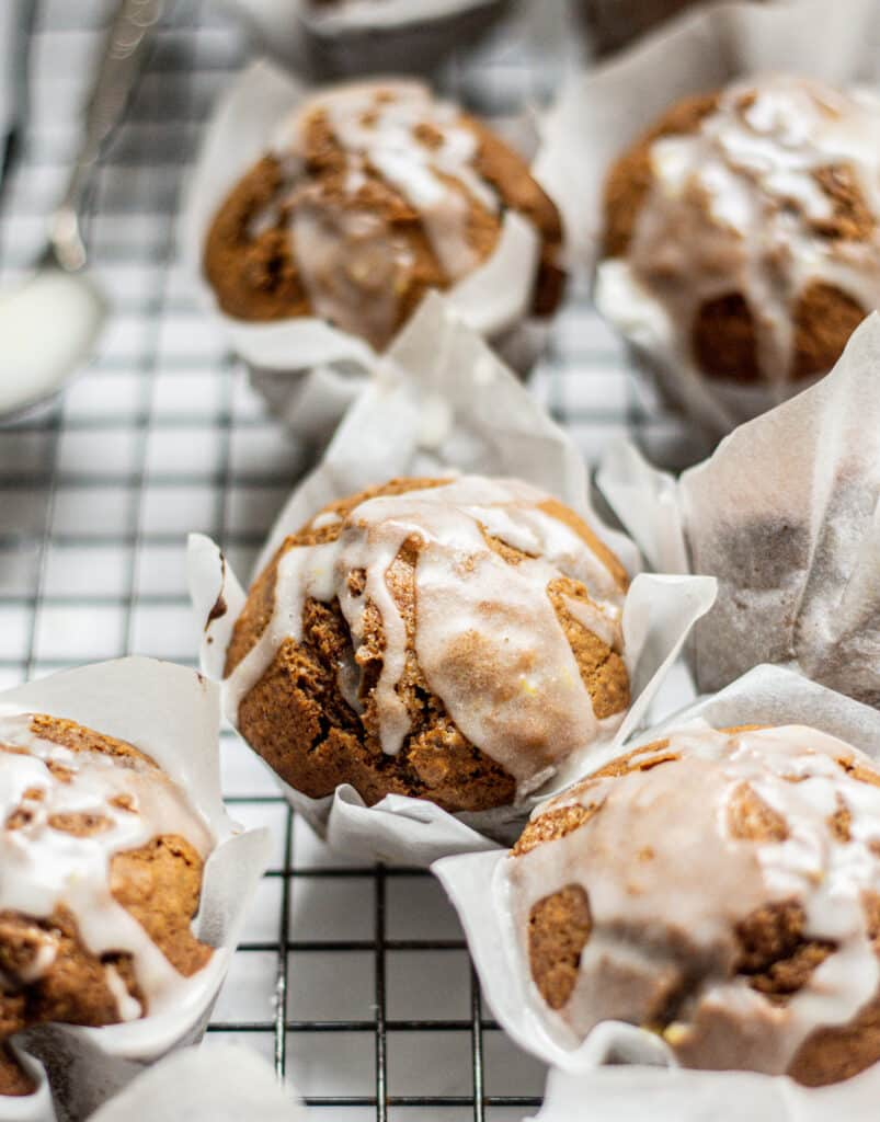 iced gingerbread muffins