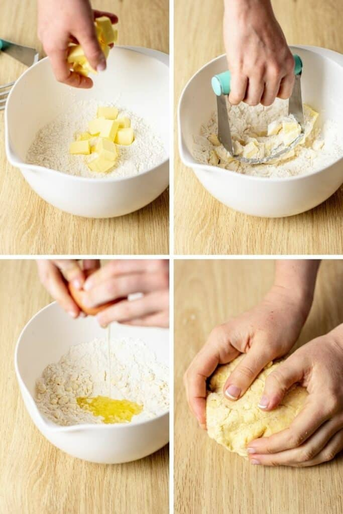 step by step of making pastry
