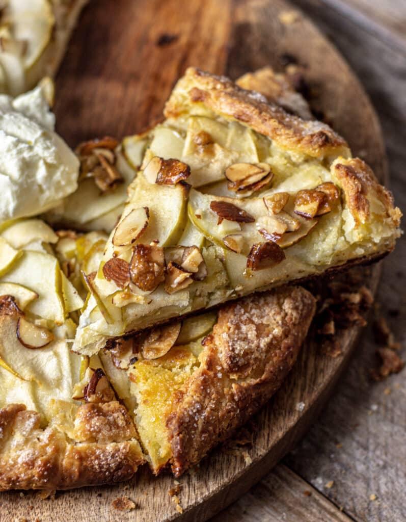 slice of apple galette