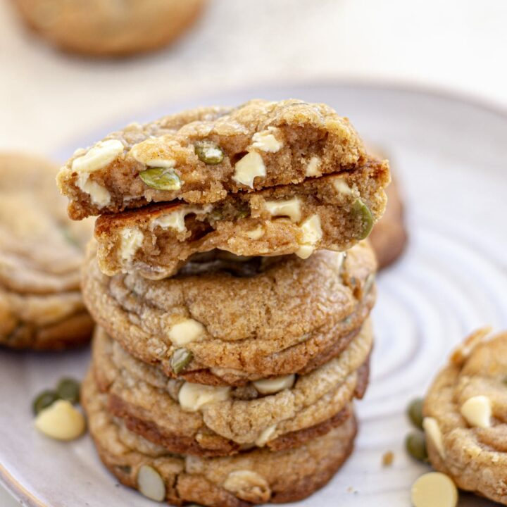 White Chocolate Chip and Pumpkin Seed Cookies